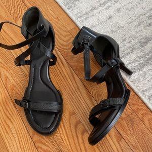 Alexander Wang Stella Black Buckle Heels